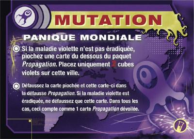 Pandémie - In Vitro, carte mutation