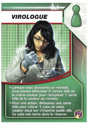 Pandémie - In Vitro, carte personnage du virologue