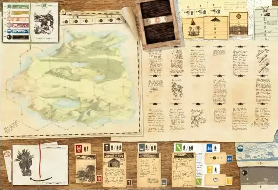 Robinson Crusoé - Aventures sur l'île, le plateau de jeu