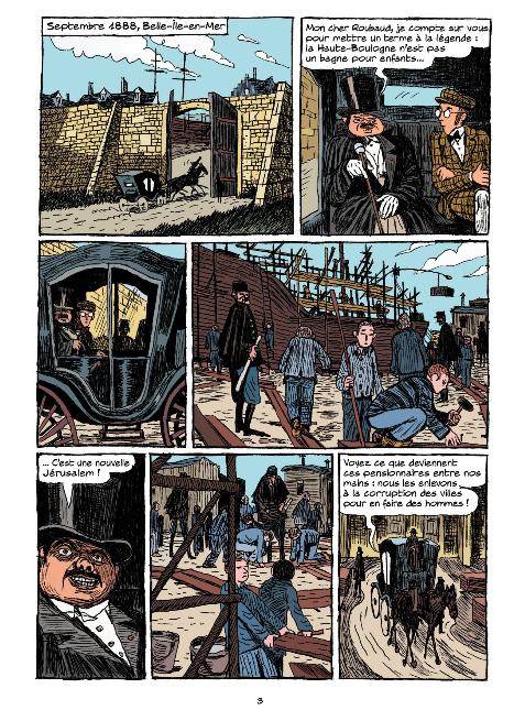 Arsène Lupin les origines, planche du tome 1 © Rue de Sèvres / Rue de Sèvres / Deschodt / Abtey / Galopin