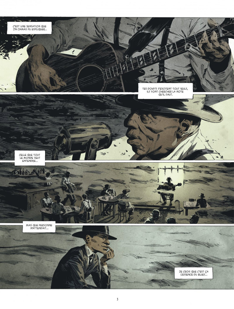 Blue note, planche du tome 2 © Dargaud / Bourgouin / Mariolle