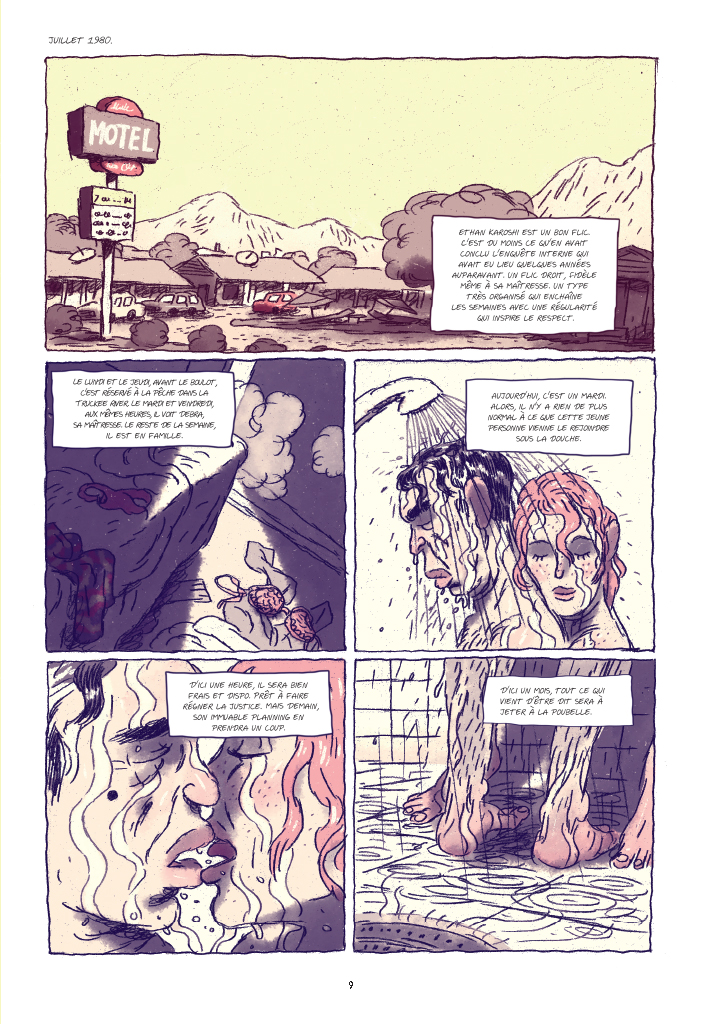 Burn Out, planche de l'album © Casterman / Sommer / Ozanam