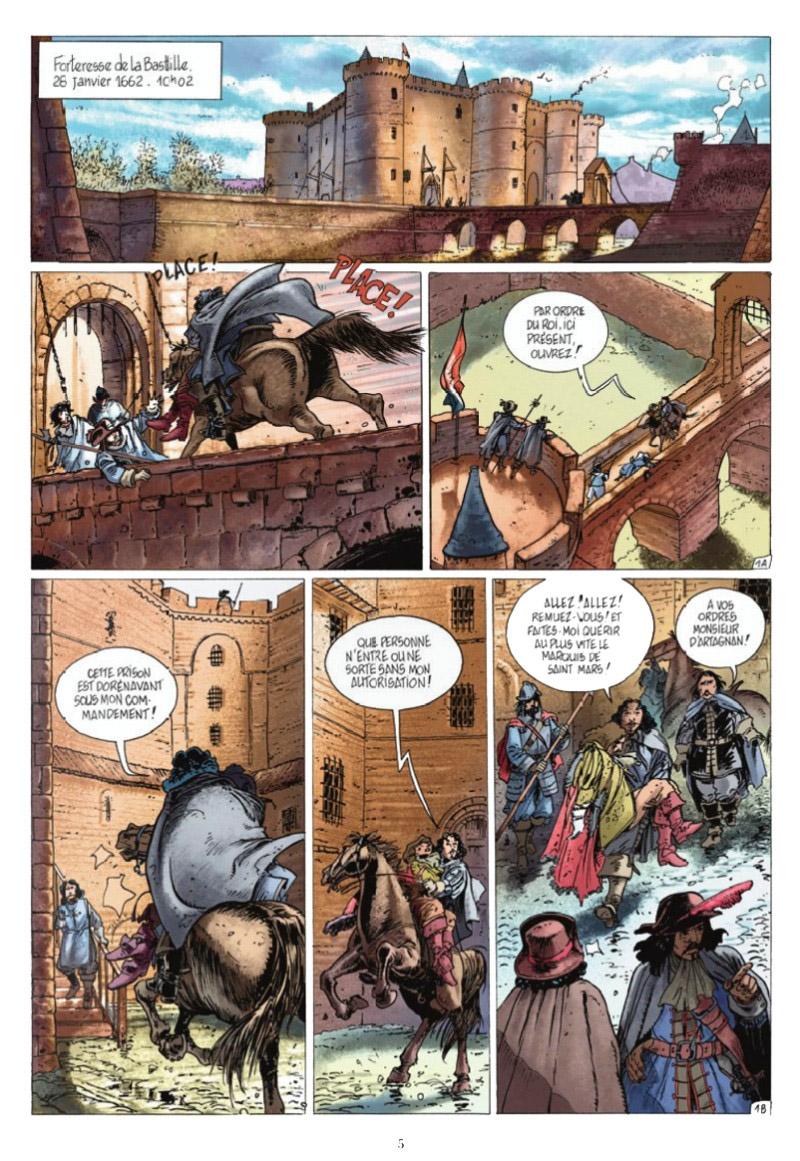 Le Chevalier Mécanique, planche du tome 3