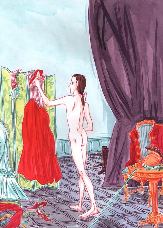 Le Chevalier d`Eon, projet de couverture © Ankama / Agnès Maupré