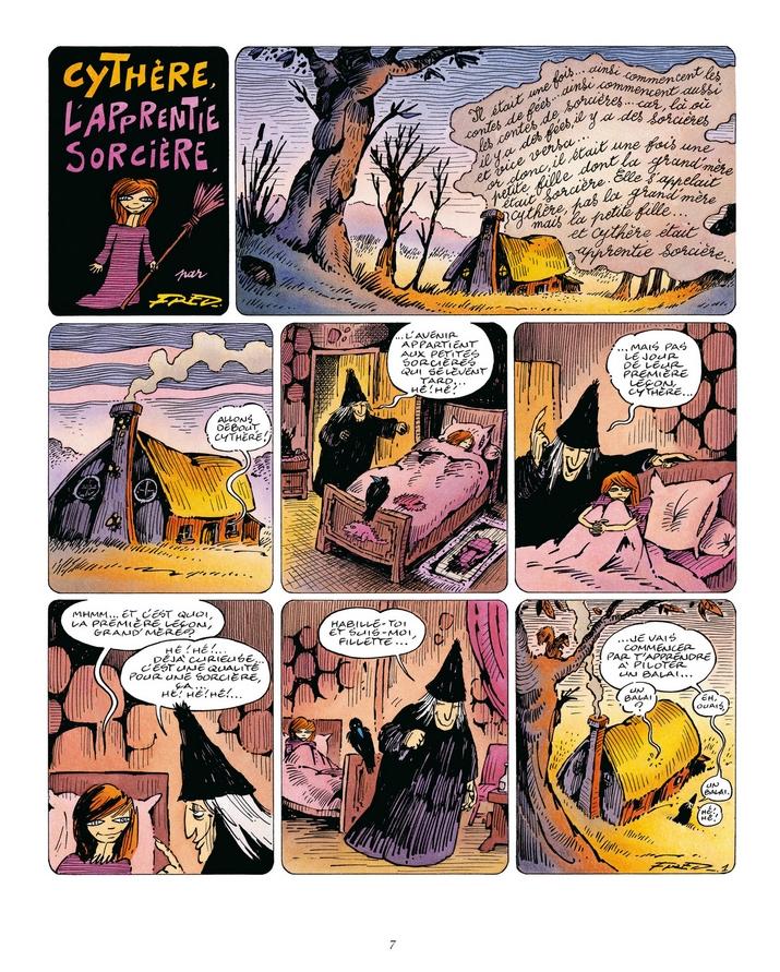 Cythère l'apprentie sorcière, planche de l'album © Dargaud / Fred / Cochet