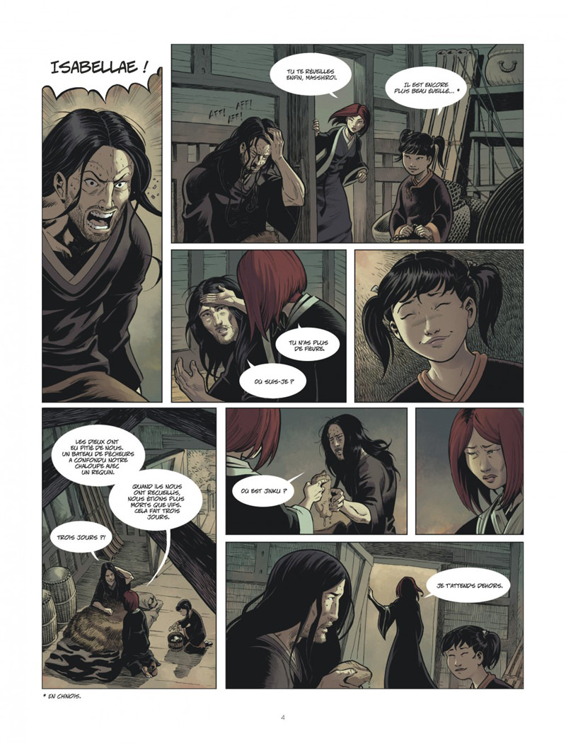 Isabellae, planche du tome 3 © Le Lombard / Gabor / Raule
