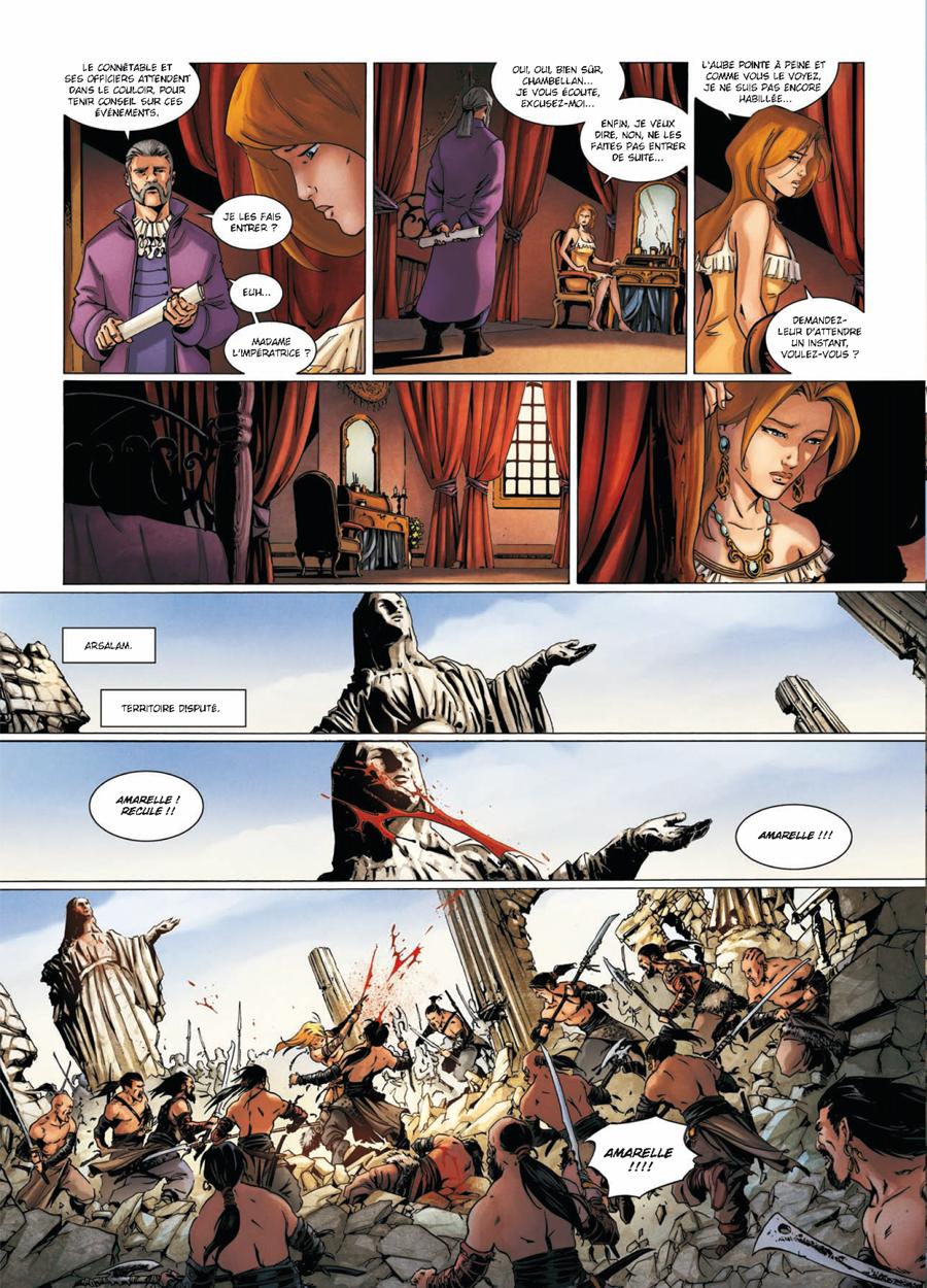 La Geste des Chevaliers Dragons, planche du tome 18 © Soleil / Vax / Ange