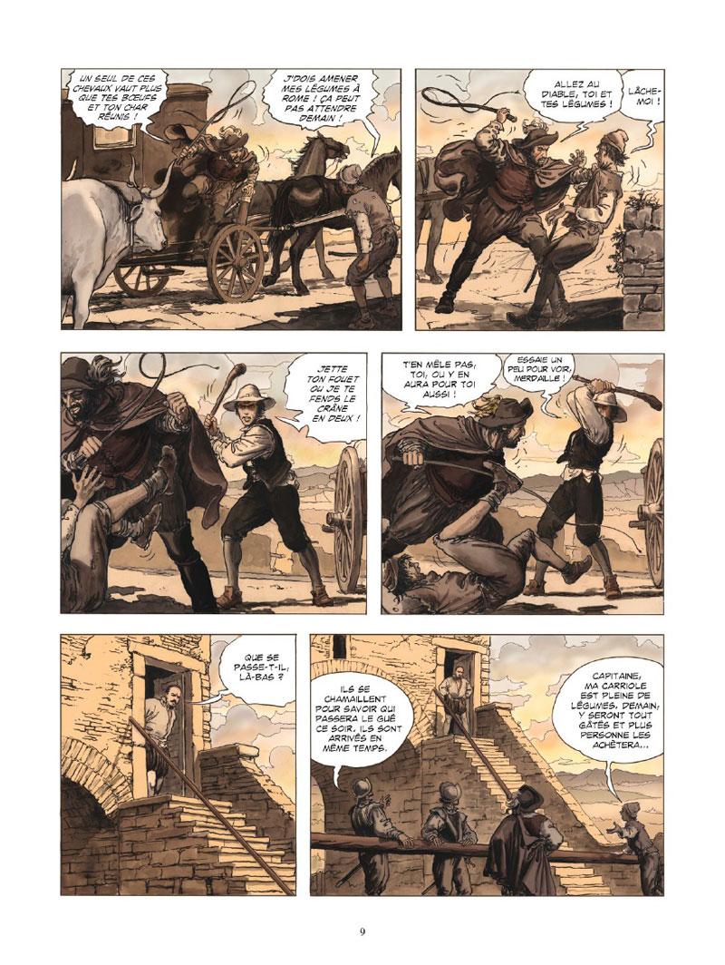 Le Caravage, planche du tome 1 Ⓒ Glénat / Manara