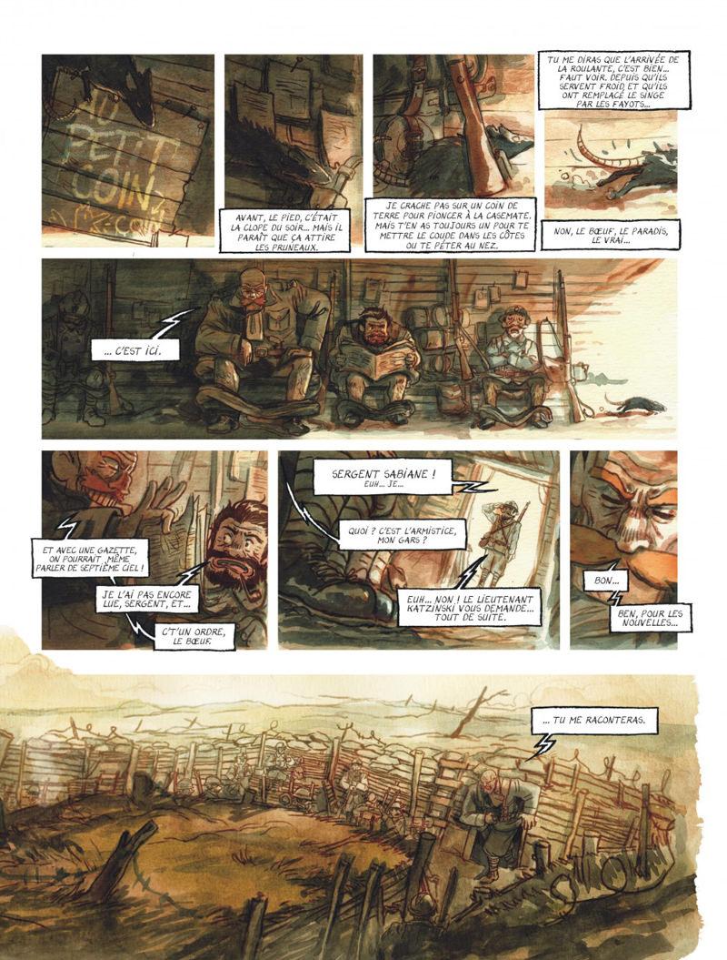 Le chant du cygne, planche du tome 1 © Le Lombard /  Babouche / Dorison / Herzet