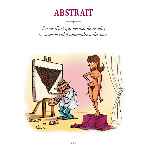 Dico illustré de Laurent Baffie, planche de l'album © Jugle / Chaunu / Baffie