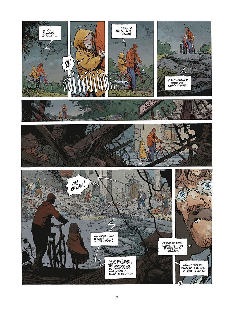 Le Grand Mort, planche du tome 5 © Vents d'Ouest / Mallié / Dijan / Loisel / Lapierre