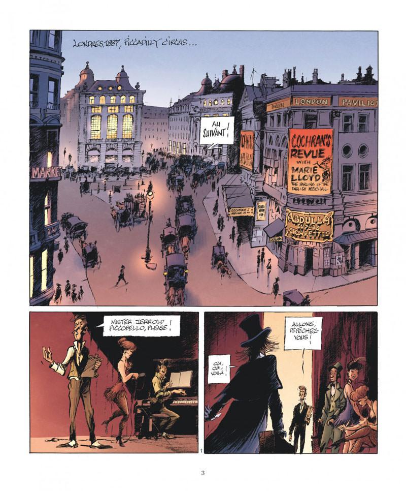 le magicien de Whitechapel, planche du tome 1 © Dargaud / Benn
