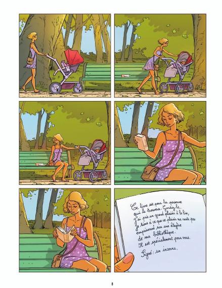 Un petit livre oublié sur un banc © Bamboo / Mig / Jim