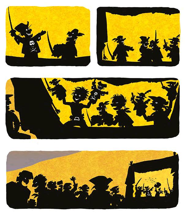 Le pont des pirates, planche de l