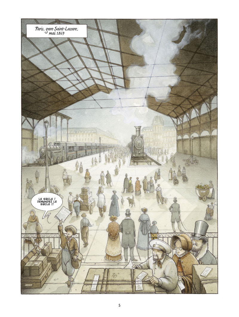 Les Damnés de Paris, planche de l