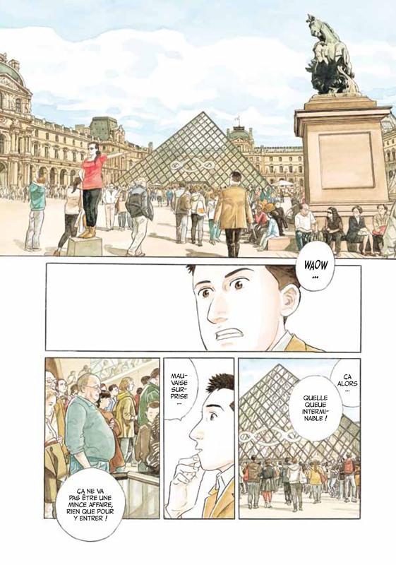 Les Gardiens du Louvre, planche de l&#39album © Futuropolis / Louvre Edition / Taniguchi