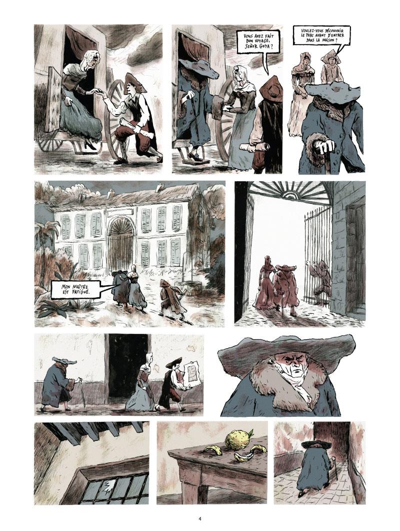Les Grands Peintres, Goya, planche de l'album © Glénat / Bozonnet / Bleys