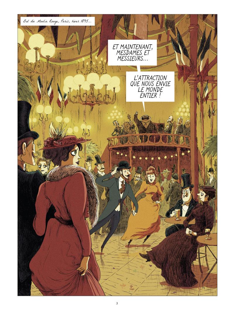 Les Grands Peintres, Toulouse-Lautrec,panneaux pour la baraque de la Goulue © Glénat /  Dumont / Bleys / Drac