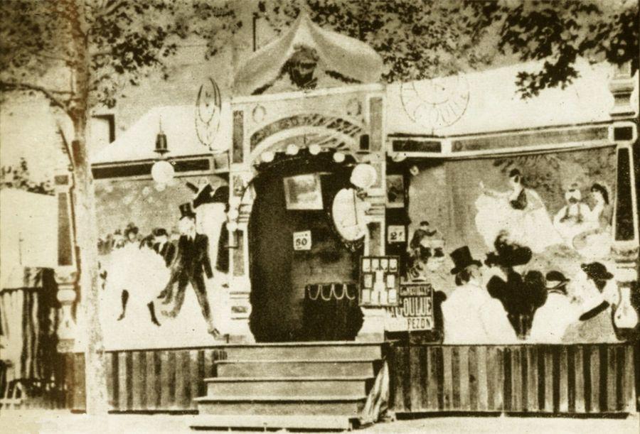 la baraque forraine de la Goulue décorée par Toulouse-Lautrec
