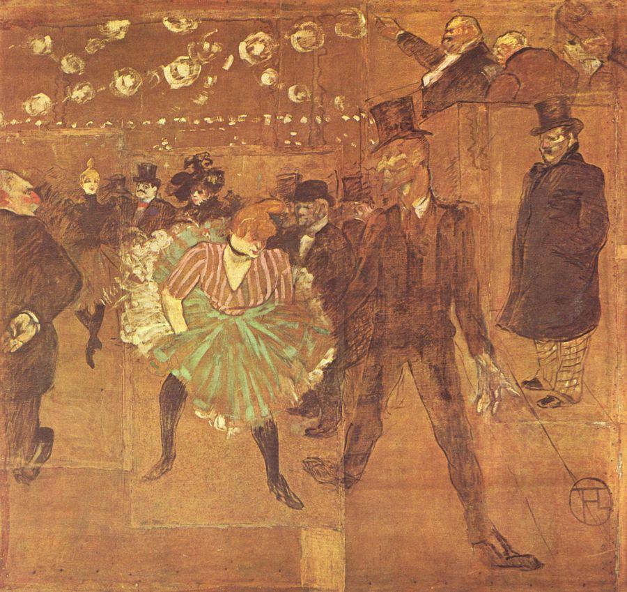 La Goulue et Valentin le Désossé, Toulouse-Lautrec 1895