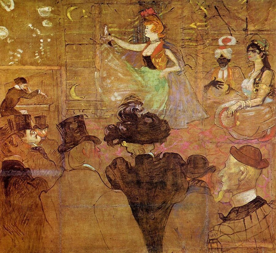 Baraque de la Goulue à la Foire du Trône, Toulouse-Lautrec 1895