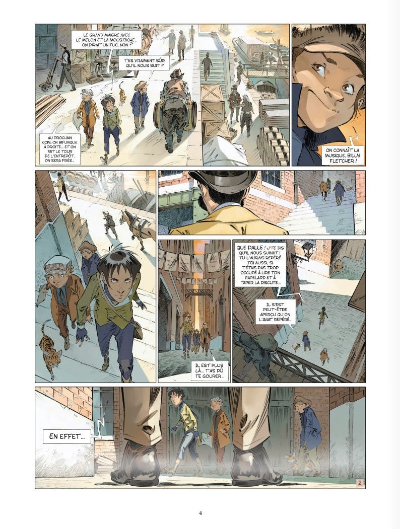 Les quatre de Baker Street, planche du tome 5 © Vents d