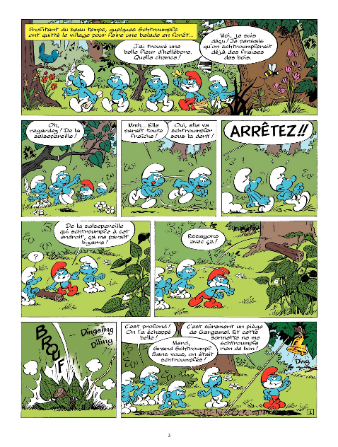 Les Schtroumpf, planche du tome 32 © Le Lombard / De Coninck / Culliford