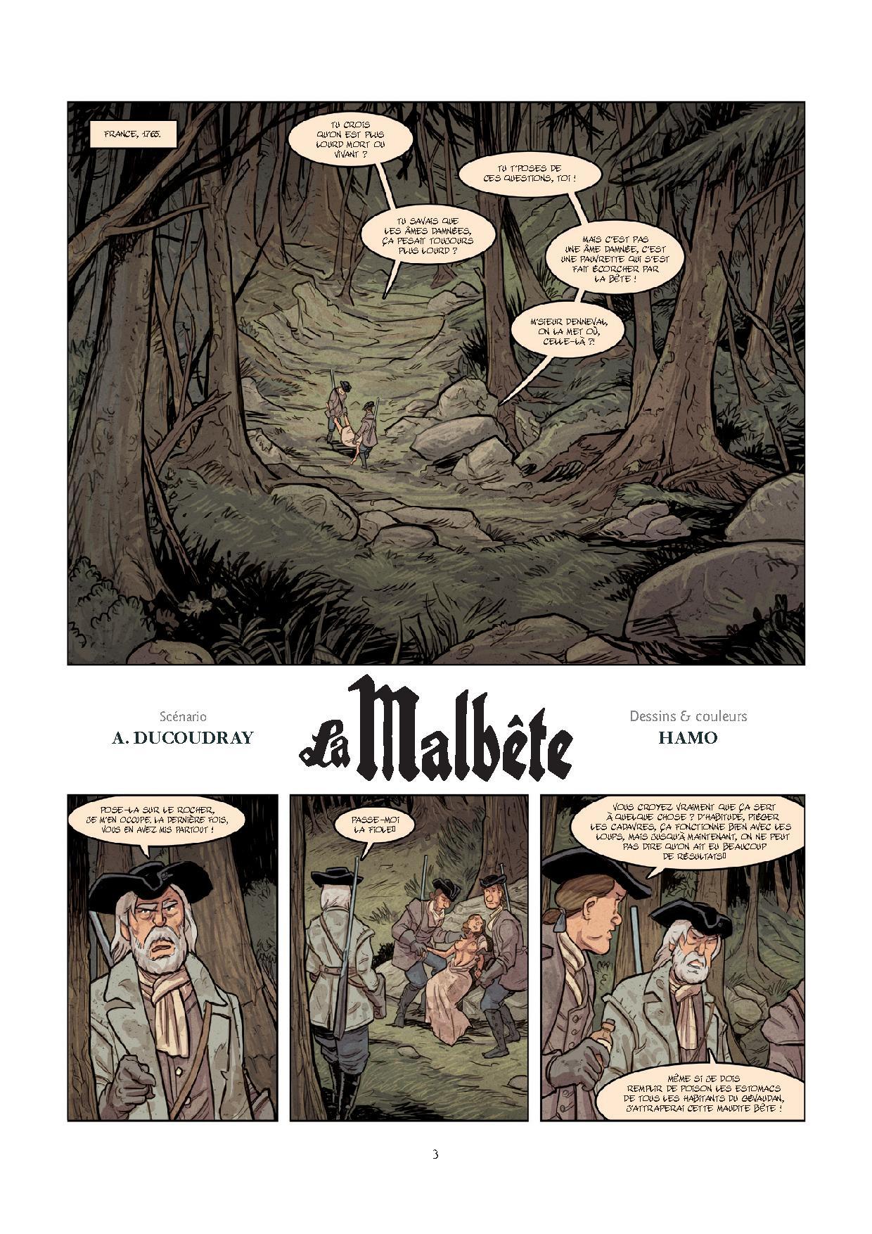 Malbête, planche du tome 1 © Bamboo / Hamo / Ducoudray