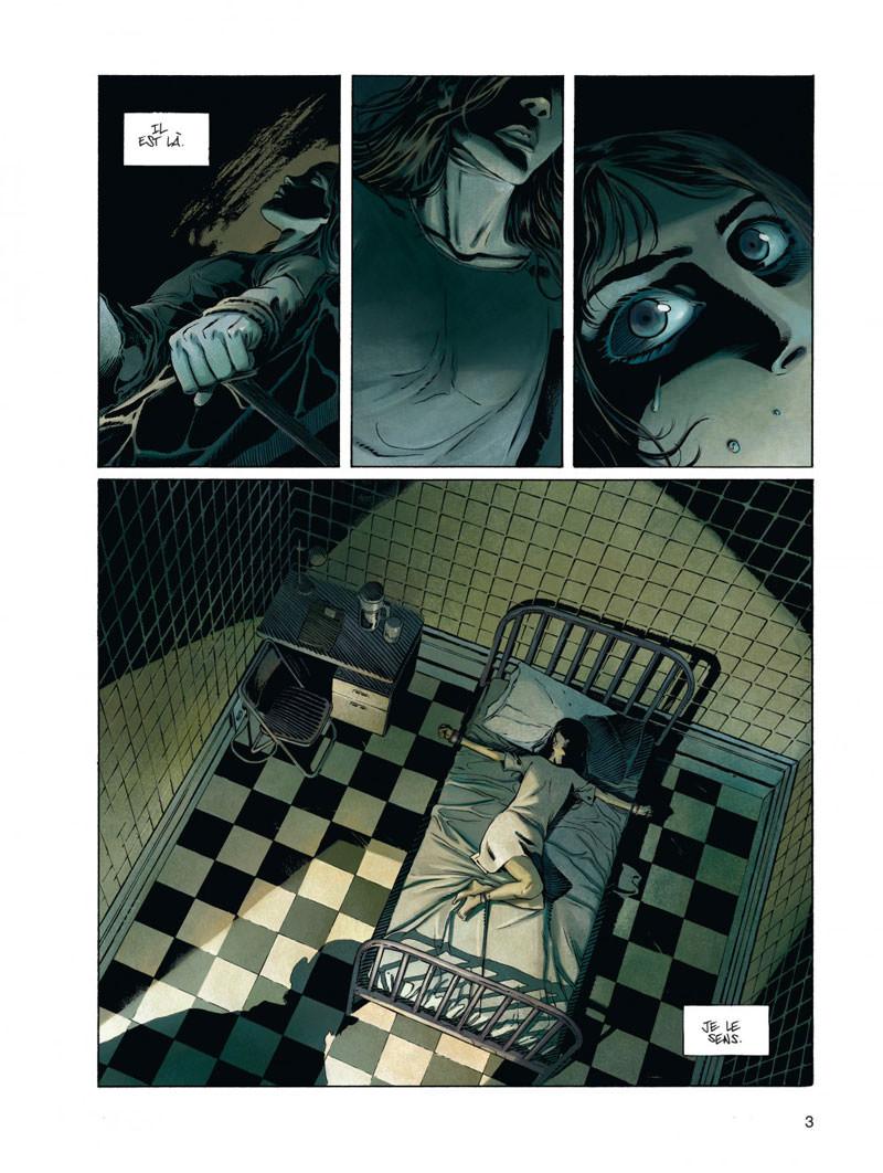 Millenium, planche du tome 3 © Dupuis / Homs / Runberg