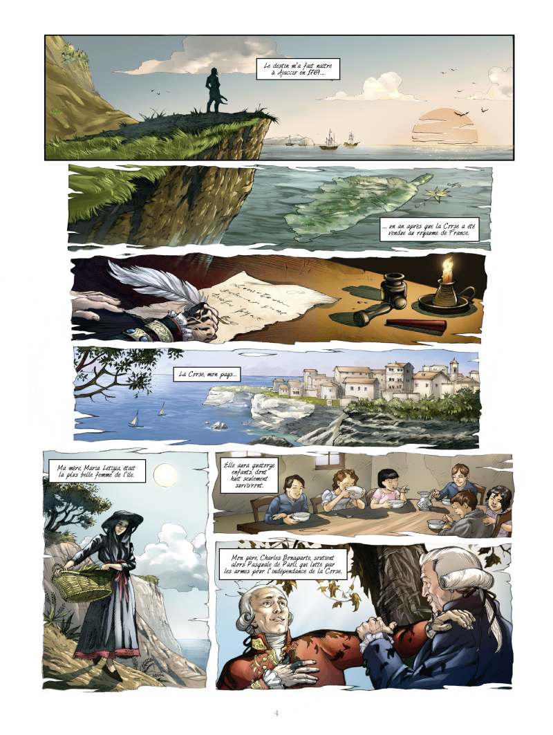 Napoléon, planche du tome 1 © Glénat / Fiorentino / Simsolo