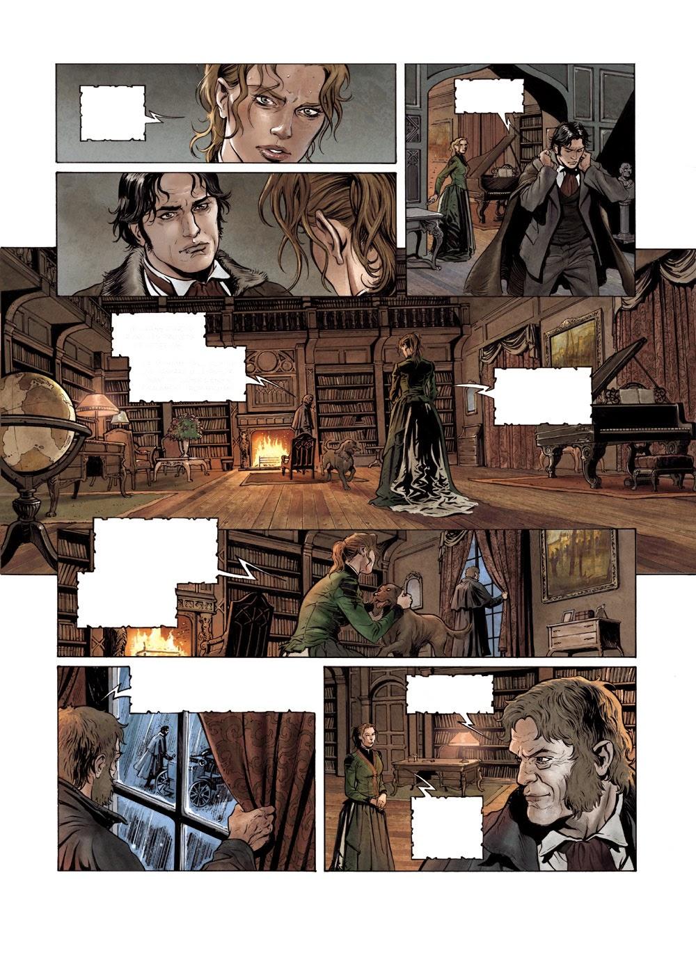 Sherlock Holmes, les Chroniques de Moriarty, planche du tome 1 © Soleil / Cordurié / Fattori / Gonzalbo