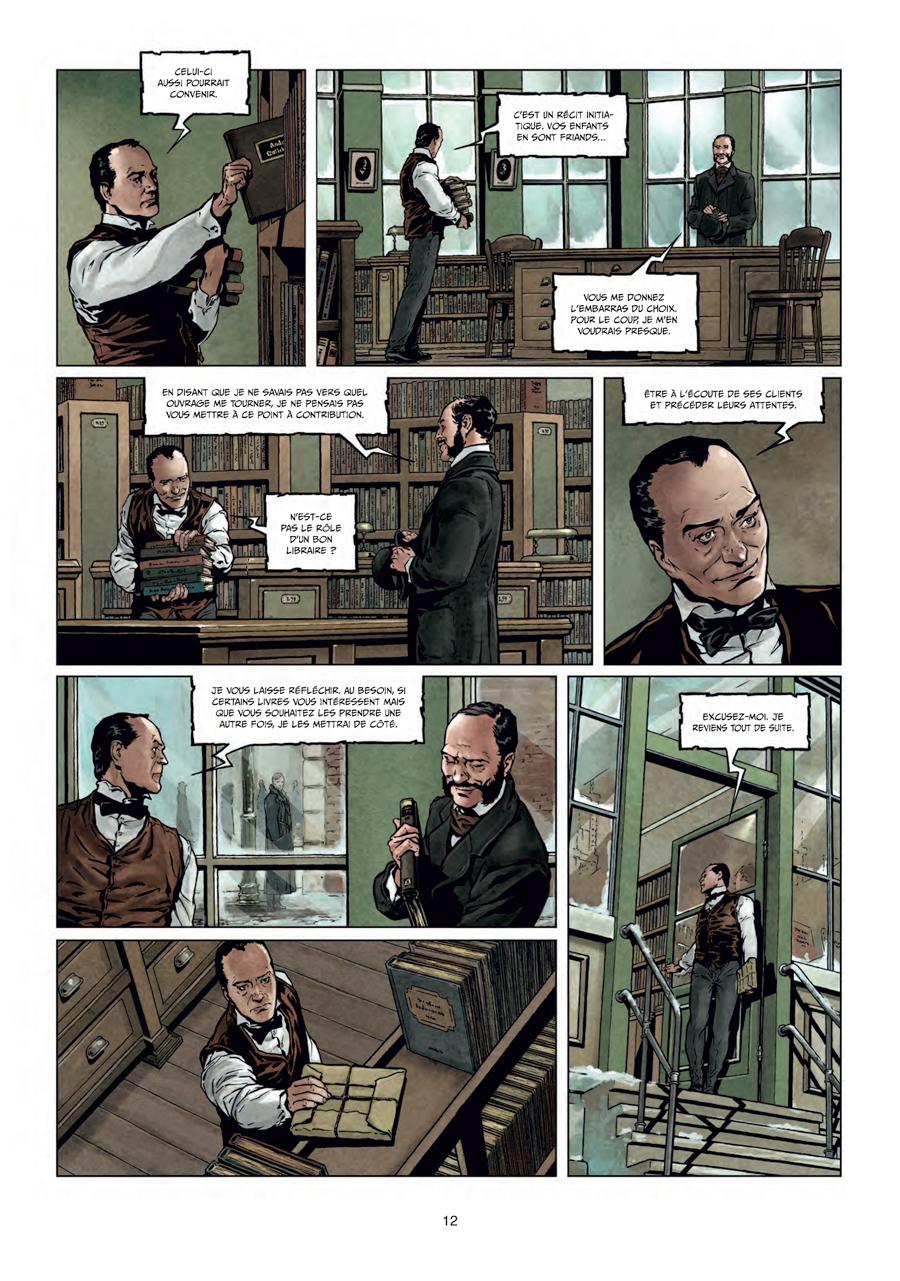 Sherlock Holmes & les voyageurs du tempsn, planche du tome 1 © Soleil / Laci / Cordurié