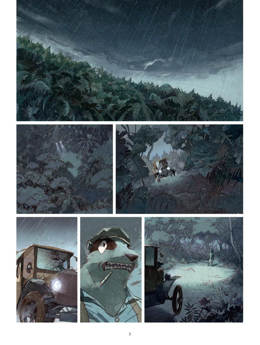 Sherlock Fox, planche du tome 1 © Glénat / Yu / Morvan