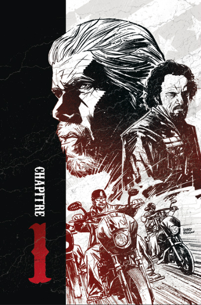 Sons of Anarchy, planche du tome 1 © Ankama / Couceiro / Golden / Downer