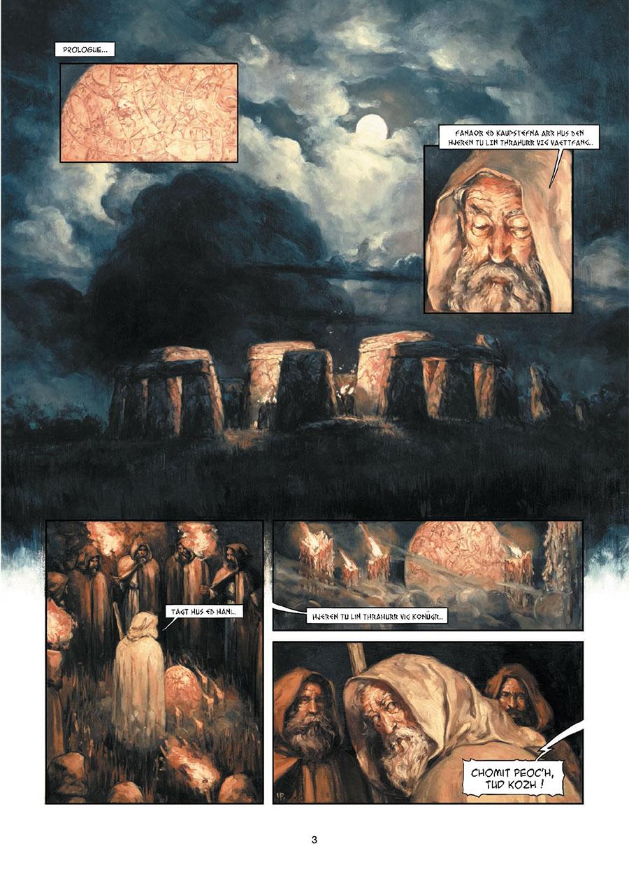 Stonehenge, planche du tome 1 © Soleil / Pinson / Corbeyran