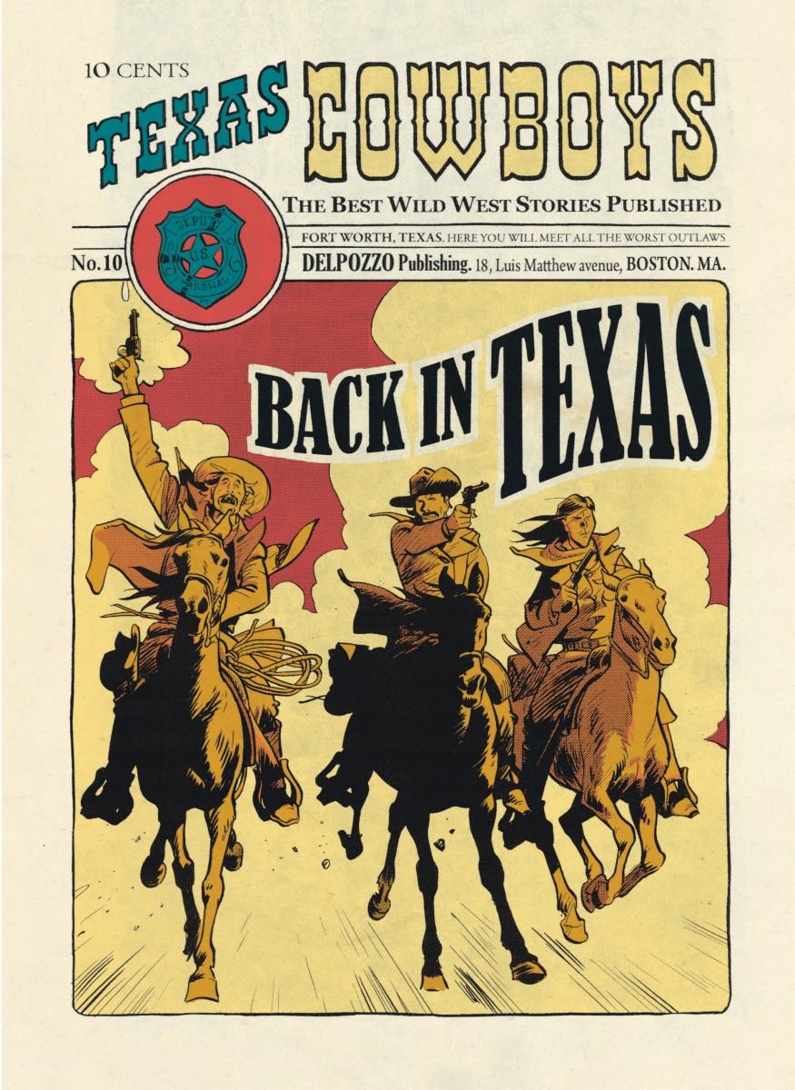 Texas Cowboys, planche du tome 2 © Dupuis / Bonhomme / Trondheim