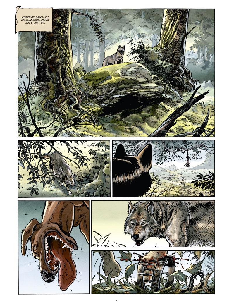 Un loup est un loup, planche du tome 1 © Glénat / Nardo / Makyo