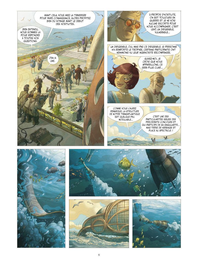 Le Voyage extraordinaire, planche du tome 3 © Vents d