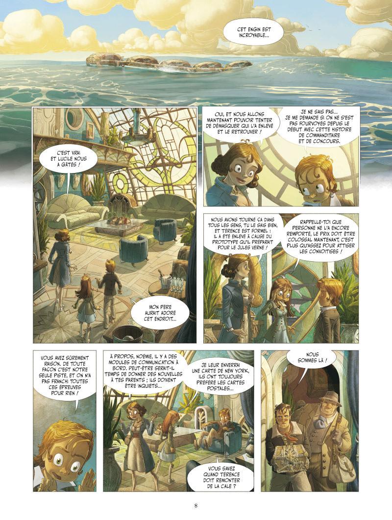 Le Voyage extraordinaire, planche du tome 3 © Vents d&#39Ouest / Camboni / Filippi