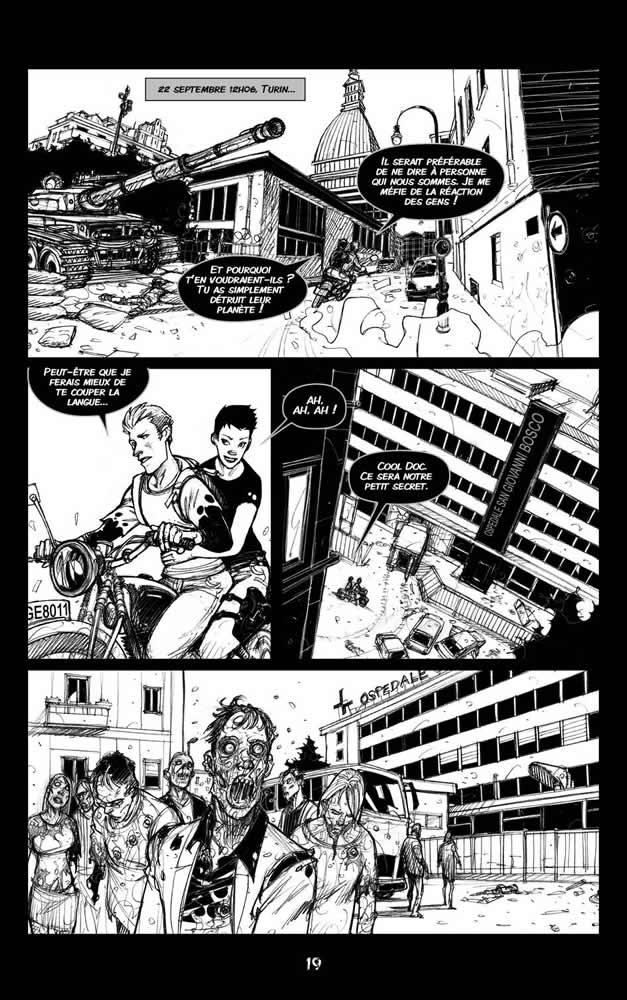 Zombie Walk, planche du tome 2 © Les Editions du Long Bec / Manunta