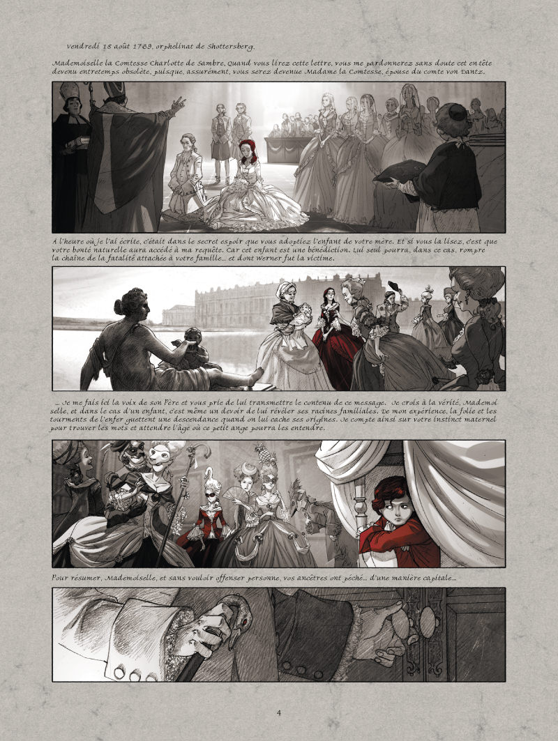 La Guerre des Sambre - Maxime & Constance, planche du tome 1 © Glénat / Boidin / Yslaire