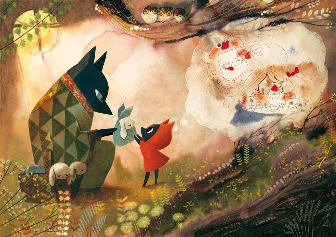 le petit loup rouge, planche de l'album © Ankama / Fléchais