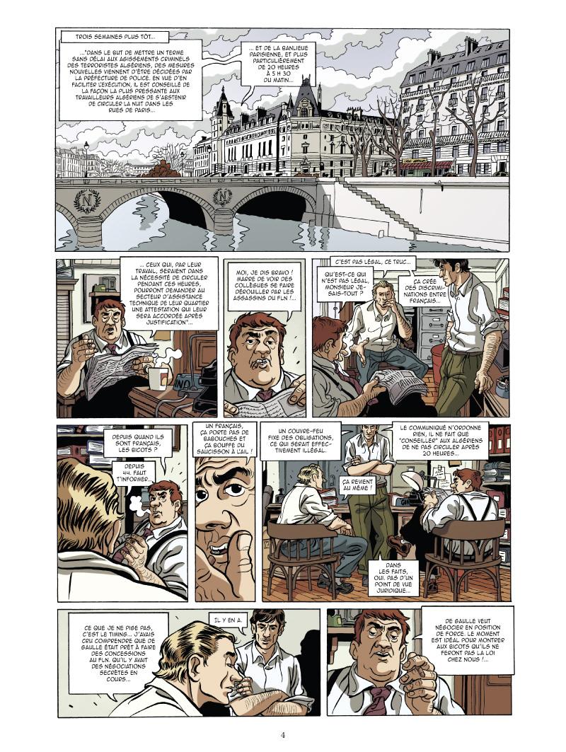les mystères de la cinquième République, planche du tome 2 © Glénat / Ravard / Richelle