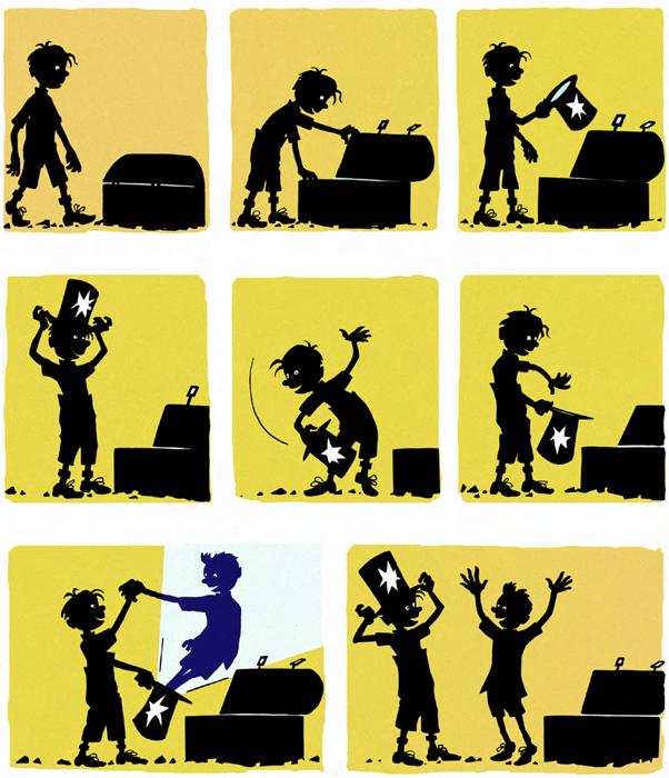 Sorcières et magiciens, planche de l'album © Les Editions du Long Bec / Wagner