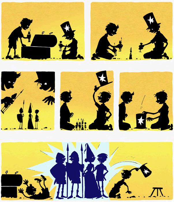 Sorcières et magiciens, planche de l