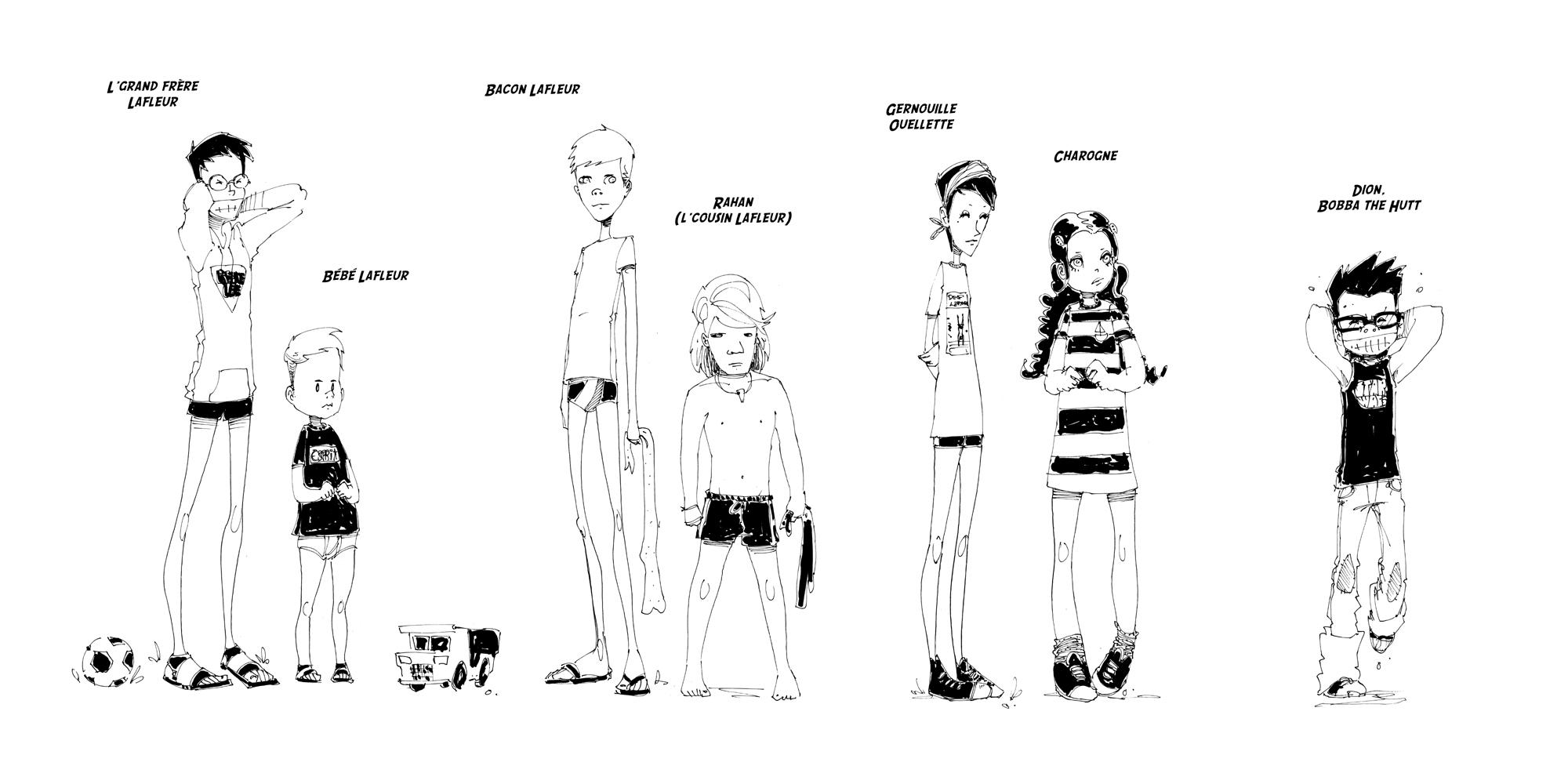 Recherche de personnages © Michel Falardeau