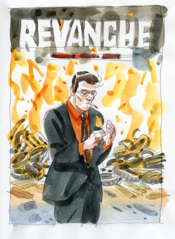 Revanche, projet de couverture ©Jean-Christophe Chauzy