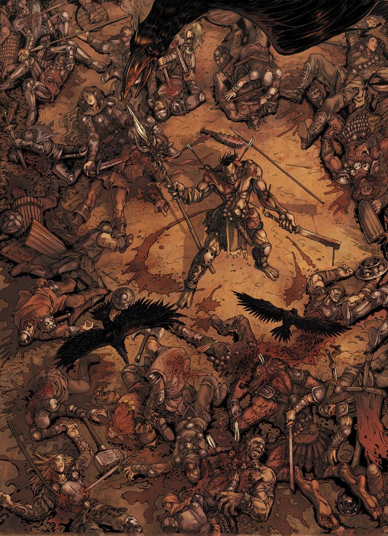 Aperçu de colorisation pour la Guerre des Orcs T1 ©Soleil /   <br /> Daxiong / Olivier Peru