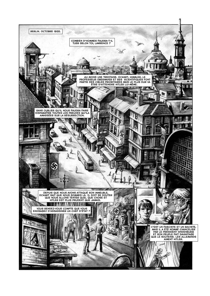 Assassin, planche 1 du tome 2 d'Assassins ©Soleil /   <br /> Christi Pacurariu / Olivier Peru