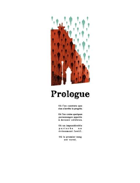 « Le prologue, version définitive. Julie a bien fait de le mettre sur la page de gauche, ça ouvre élégamment le livre. C'est elle qui a eu l'idée de la référence à Magritte (grand admirateur de Fantômas). » (Olivier Bocquet)